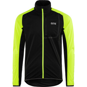 GORE WEAR C3 Gore Windstopper Chaqueta Hombre, black/neon yellow